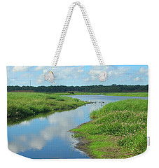 Weekender Tote Bag featuring the photograph Myakka River Reflections by Emmy Marie Vickers