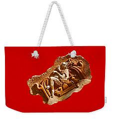 Weekender Tote Bag featuring the digital art Myan Wall Art D by Francesca Mackenney