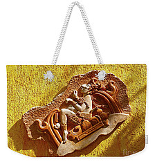 Weekender Tote Bag featuring the photograph Myan Wall Art by Francesca Mackenney