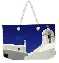 Mykonos Greece Architectual Line 5 Weekender Tote Bag by Bob Christopher