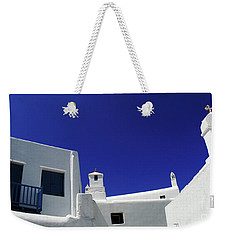 Mykonos Greece Clean Line Architecture Weekender Tote Bag by Bob Christopher