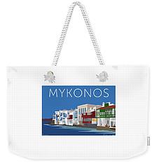 Mykonos Little Venice - Blue Weekender Tote Bag