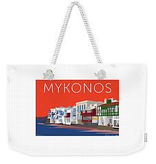 Mykonos Little Venice - Orange Weekender Tote Bag