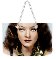 Weekender Tote Bag featuring the photograph Myrna Loy by Granger