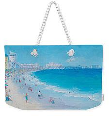 Myrtle Beach And Springmaid Pier Weekender Tote Bag by Jan Matson