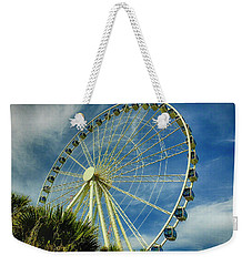 Weekender Tote Bag featuring the photograph Myrtle Beach Skywheel by Bill Barber