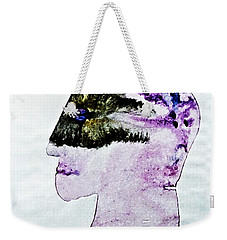 Weekender Tote Bag featuring the painting Mysterious  Stranger by Hartmut Jager