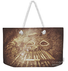 Weekender Tote Bag featuring the photograph Mysterious Vintage Masquerade by Jorgo Photography - Wall Art Gallery