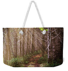 Weekender Tote Bag featuring the photograph Mystery At Dawn by Debra and Dave Vanderlaan