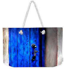 Mystery Beyond Blue Weekender Tote Bag by Barbara Chichester