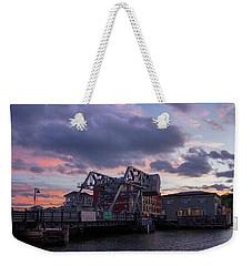Mystic Bridge Sunset 2016 Weekender Tote Bag
