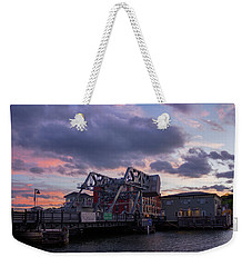 Mystic Bridge Sunset 2016 Weekender Tote Bag