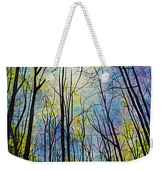 Weekender Tote Bag featuring the painting Mystic Forest by Hailey E Herrera