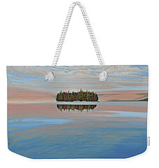 Weekender Tote Bag featuring the painting Mystic Island by Kenneth M  Kirsch