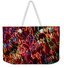 Weekender Tote Bag featuring the digital art Mystic Lights 16 by Donna Corless