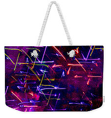 Weekender Tote Bag featuring the digital art Mystic Lights 8 by Donna Corless