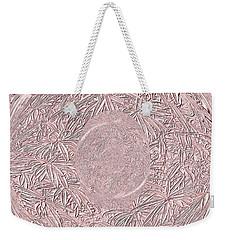 Weekender Tote Bag featuring the digital art Mystic Pink. Art by Oksana Semenchenko