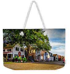 Mystic Seaport Village Weekender Tote Bag