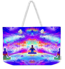 Weekender Tote Bag featuring the digital art Mystic Universe 10 by Derek Gedney