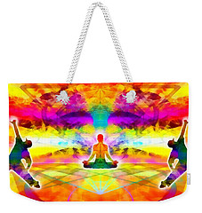 Weekender Tote Bag featuring the digital art Mystic Universe 11 by Derek Gedney