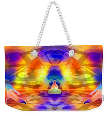 Weekender Tote Bag featuring the digital art Mystic Universe 12 by Derek Gedney