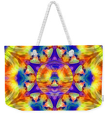 Weekender Tote Bag featuring the digital art Mystic Universe Kk 12 by Derek Gedney