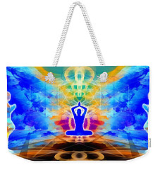 Weekender Tote Bag featuring the digital art Mystic Universe 13 by Derek Gedney