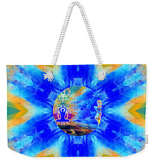 Weekender Tote Bag featuring the digital art Mystic Universe 13 Kk2 by Derek Gedney