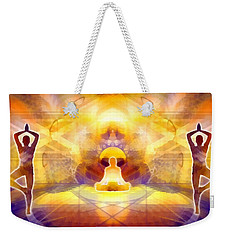 Weekender Tote Bag featuring the digital art Mystic Universe 14 by Derek Gedney