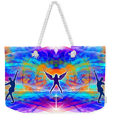 Weekender Tote Bag featuring the digital art Mystic Universe 15 by Derek Gedney