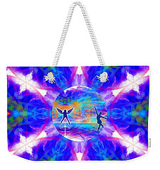 Weekender Tote Bag featuring the digital art Mystic Universe 15 Kk2 by Derek Gedney