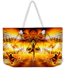 Weekender Tote Bag featuring the digital art Mystic Universe 7 by Derek Gedney