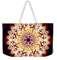 Weekender Tote Bag featuring the digital art Mystic Universe 7 Zodiac Lattice by Derek Gedney