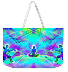 Weekender Tote Bag featuring the digital art Mystic Universe 8 by Derek Gedney