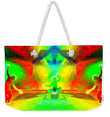 Weekender Tote Bag featuring the digital art Mystic Universe 9 by Derek Gedney