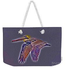 Mystical Brown Pelican Soaring Spirit Weekender Tote Bag