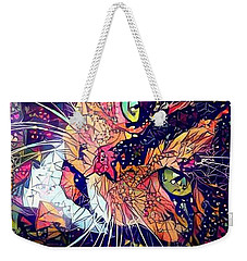 Weekender Tote Bag featuring the photograph Mystical Calico  by Geri Glavis