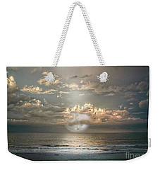 Weekender Tote Bag featuring the photograph Mystical Moon by Judy Hall-Folde