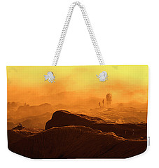 Weekender Tote Bag featuring the photograph mystical view from Mt bromo by Pradeep Raja Prints
