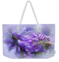 Weekender Tote Bag featuring the photograph Mystical Wisteria By Kaye Menner by Kaye Menner