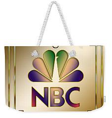 Weekender Tote Bag featuring the digital art N B C Logo - Art Deco by Chuck Staley