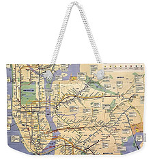 N Y C Subway Map Weekender Tote Bag