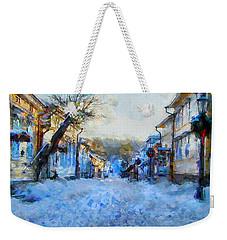 Weekender Tote Bag featuring the digital art Naantali Old Town In Winter by Kai Saarto