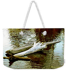 Weekender Tote Bag featuring the photograph Nailbiting Driftwood by Sadie Reneau