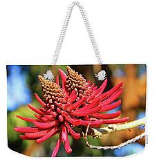 Naked Coral Tree Flower Weekender Tote Bag