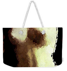 Weekender Tote Bag featuring the painting Naked Female Torso  by Joan Reese