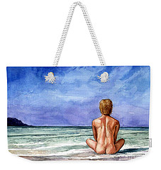 Naked Male Sleepy Ocean Weekender Tote Bag