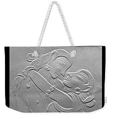 Nakhachitra-fingernail Relief Drawing Weekender Tote Bag by Suhas Tavkar