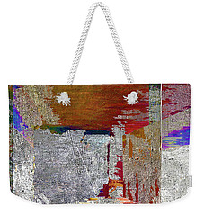 Weekender Tote Bag featuring the mixed media Name This Piece by Tony Rubino