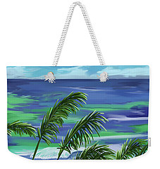 Weekender Tote Bag featuring the painting Names In The Sand 2 by Tim Gilliland